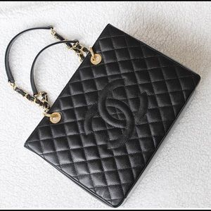 Chanel Grand Shopping Tote Caviar Gold